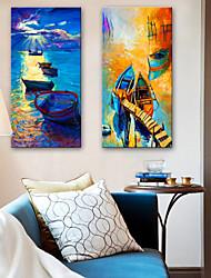 baratos -Estampados de Lonas Esticada Modern, 2 Painéis Tela de pintura Vertical Estampado Decoração de Parede Decoração para casa