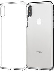 billige -Etui Til Apple iPhone X / iPhone 8 Plus Transparent Bagcover Ensfarvet Blødt TPU for iPhone X / iPhone 8 Plus / iPhone 8