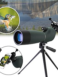 cheap -60X60mm Binoculars Zoomable / Spotting Scope Camping / Hiking / Caving / Traveling Rubber silicon / Waterproof Fabric