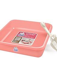 Недорогие -Коты Чистка Pet пакет Животные Корпусы Учебный Компактность Офис Разные цвета В квадратный кусок Бежевый Розовый