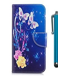 abordables -Funda Para Samsung Galaxy Nota 8 Cartera Soporte de Coche con Soporte Flip Magnética Mariposa Dura Cuero de PU para Note 8