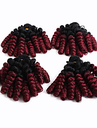 cheap -18inch synthetic saniya curly weaving bouncy curl bundles 4bundles/pack synthetic bounce afro kinky curly weft 100% kanekalon fiber
