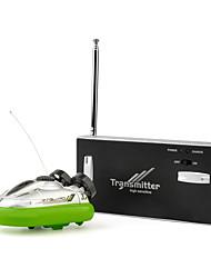 Недорогие -Лодка на радиоуправлении HY220Green Пластик 4 каналы КМ / Ч RTR