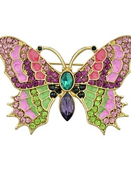 abordables -Femme Broche , Strass simple Basique Alliage Papillon Or Bijoux Pour Quotidien Nouvelle Année
