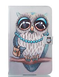 preiswerte -Hülle Für Samsung Galaxy Tab E 9.6 Geldbeutel mit Halterung Flipbare Hülle Muster Automatisches Schlafen/Aufwachen Ganzkörper-Gehäuse Eule