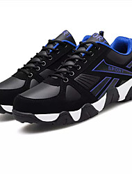 cheap -Men's Shoes Tulle Spring Fall Comfort Athletic Shoes Walking Shoes Split Joint for Casual Black and Red Black/Blue Black/Yellow