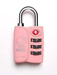 cheap -hello kitty luggage password lock 3 digital cipher lock for cupboard/gym & sports locker