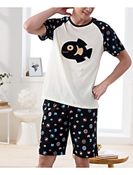 cheap -Men's Suits Nightwear - Classic Style Patchwork, Color Block