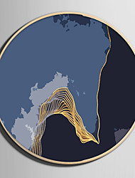 abordables -Abstrait Paysage Illustration Art mural,Plastique Matériel Avec Cadre For Décoration d'intérieur Cadre Art Salle de séjour
