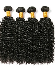 cheap -Brazilian Hair Kinky Curly Classic Human Hair Weaves High Quality Natural Color Hair Weaves Daily