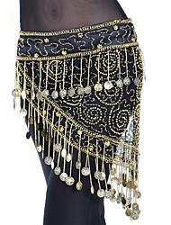 cheap -Belly Dance Ordinary Women's Training Polyester Belt Paillette Tassel Hip Scarf