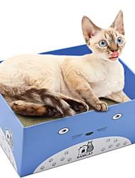 baratos -Gatos Gato Camas Desenho Artístico Papel e Artesanato de Papel Animais de Estimação Cestos Sólido Treinador Alivia Estresse Dobrável Azul