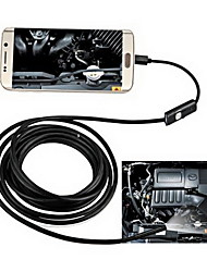 abordables -2in1 Android&Pc 8.0mm lentille hd endoscope 2.0 méga pixels 6 led ip67 étanche à l'imperméabilisation à l'endoscope cordon flexible de
