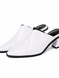 Недорогие -Жен. Обувь Наппа Leather Кожа Весна Осень Удобная обувь Башмаки и босоножки Высокий каблук для Повседневные Белый Черный
