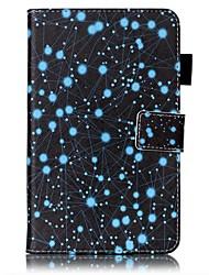 preiswerte -Hülle Für Samsung Galaxy Tab 4 7.0 Kreditkartenfächer Geldbeutel mit Halterung Muster Automatisches Schlafen/Aufwachen Ganzkörper-Gehäuse