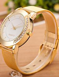 Недорогие -Жен. Наручные часы Diamond Watch Кварцевый Нержавеющая сталь Серебристый металл Повседневные часы Аналоговый Дамы На каждый день Мода - Золотой Серебристый / белый Один год Срок службы батареи