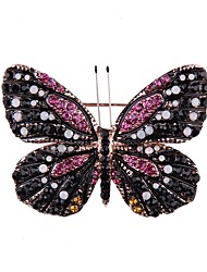cheap -Women's Brooches Fashion Alloy Butterfly Black Yellow Red Green Blue Jewelry For Party Prom