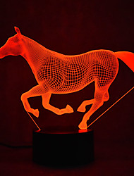 Недорогие -1 комплект 3D ночной свет USB Для детей / Творчество / С портом USB <5 V