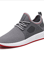 cheap -Men's Shoes Knit Spring Summer Comfort Athletic Shoes Running Shoes for Athletic Outdoor Black Gray Red