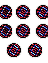 cheap -8pcs 2.5W 140lm E26 / E27 Growing Light Bulb 60 LED Beads SMD 2835 Blue Red 85-265V