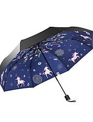 Недорогие -Ткань Жен. / Все Солнечный и дождливой / Ветроустойчивый / новый Складные зонты