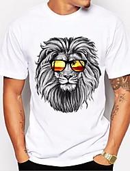 cheap -Men's Vintage Cotton T-shirt - Letter Round Neck