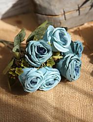 Недорогие -Искусственные Цветы 1 Филиал Деревня Свадьба Розы Букеты на стол