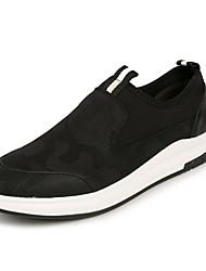 preiswerte -Herrn Schuhe Denim Jeans Frühling Herbst Komfort Loafers & Slip-Ons für Normal Schwarz Rot
