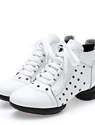 Недорогие -Жен. Танцевальные сапожки Наппа Leather С раздельной подошвой Двусторонняя выемка На низком каблуке Персонализируемая Танцевальная обувь