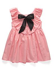 abordables -Robe Fille de Soirée Quotidien Couleur Pleine Coton Acrylique Polyester Printemps Eté Sans Manches simple Rétro Rouge Rose Claire