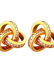 Недорогие -Жен. Цирконий Серьги-кольца - Позолота Мода Золотой / Серебряный Назначение Для вечеринок / Свидание