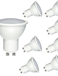 economico -8pcs 6W 600lm GU10 MR16 Faretti LED 1 Perline LED COB Oscurabile Decorativo Bianco caldo Luce fredda 220-240V