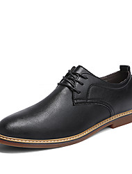 cheap -Men's Shoes Leather Spring Summer Formal Shoes Oxfords Rivet for Wedding Party & Evening Black Brown