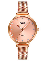cheap -SKMEI Women's Casual Watch Fashion Watch Unique Creative Watch Japanese Quartz 30 m Water Resistant / Water Proof Casual Watch Imitation Diamond Stainless Steel Band Analog Luxury Casual Minimalist