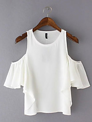 cheap -Women's Flare Sleeve Blouse - Solid Off Shoulder