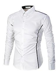 Homens Camisa Social Negócio Estampado, Estampa Colorida
