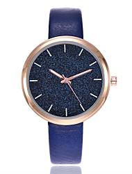 cheap -Women's Fashion Watch / Pave Watch Casual Watch PU Band Casual / Minimalist Black / White / Blue