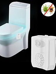 cheap -1pc Toilet Light RGB UV (Blacklight) AAA Batteries Powered Light Control Human Body Sensor Safety Creative Ultraviolet Light
