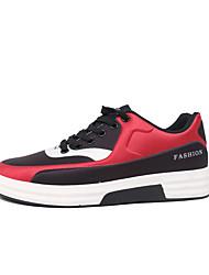 billige -Herre Stof Forår Komfort Sneakers Hvid / Rød