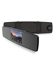 cheap -YI 1280 x 720 Car DVR 140 Degree Wide Angle 4.3inch Mirror Dash Cam with Built-in speaker / G-Sensor / Night Vision Car Recorder