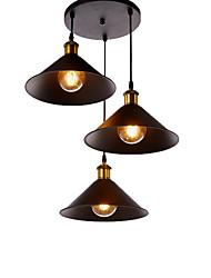 Недорогие -старинная промышленная металлическая тень подвесной светильник 3-х этажный люстра гостиная столовая