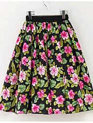 cheap -Floral Girl's Daily Summer Dress Simple Rainbow
