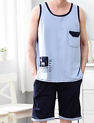 cheap -Men's Suits Nightwear - Basic, Geometric