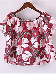 preiswerte -Damen Blumen-Niedlich T-shirt