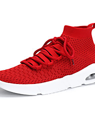 cheap -Men's Shoes Knit Spring Summer Comfort Athletic Shoes Running Shoes for Athletic Outdoor White Black Gray Red