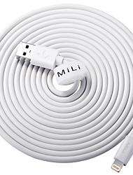 Недорогие -Подсветка Адаптер USB-кабеля Быстрая зарядка Высокая скорость Кабель Назначение iPhone 300 cm ПВХ