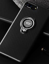 Недорогие -Кейс для Назначение Apple iPhone 7 Plus iPhone 7 Защита от удара Кольца-держатели Кейс на заднюю панель Сплошной цвет Мягкий Кожа PU для