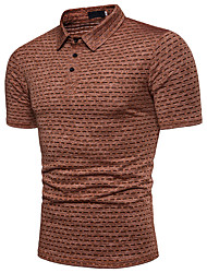 cheap -Men's Active Cotton Polo - Striped Basic Shirt Collar / Short Sleeve