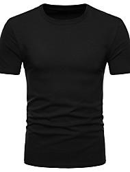 economico -t-shirt da uomo in cotone taglie forti di cotone vintage - scollo rotondo tondo