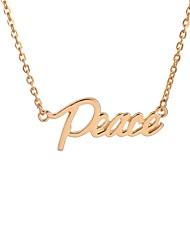 Недорогие -Жен. Ожерелья с подвесками  -  мир Мода, Духовное развитие Золотой, Серебряный Ожерелье Назначение Повседневные, Свидание